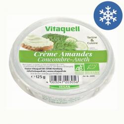 Photo Crème Amandes Concombre-Aneth Bio 125g Vitaquell
