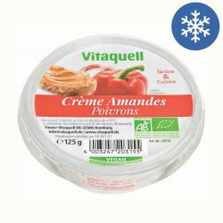 Photo Crème Amandes Poivron Bio 125g Vitaquell