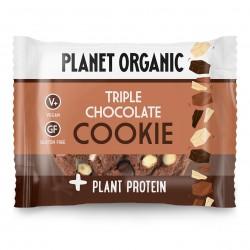 Photo Cookie Protéiné 3 Chocolats Bio 50g Planet Organic