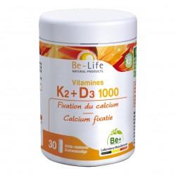 Photo Vitamines K2-D3 1000 30 gélules Be-Life