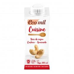 Photo Crème Cuisine Noix de Cajou Nature 200ml Bio Ecomil