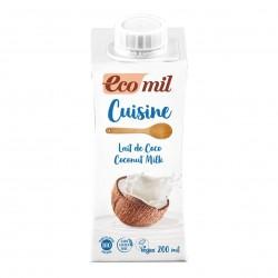 Photo Crème Cuisine Lait de Coco 200ml Bio Ecomil