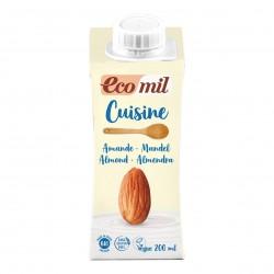 Photo Crème Cuisine aux Amandes 200ml Bio Ecomil