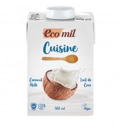 Photo Crème Cuisine Lait de Coco 500ml Bio Ecomil