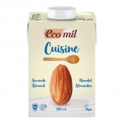 Photo Crème Cuisine aux Amandes 500ml Bio Ecomil