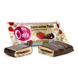 Photo Barre Avoine-Fraise enrobée de chocolat Bio 50g My Oath