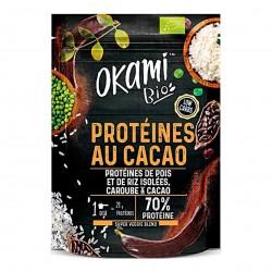 Photo Protéine de Pois Caroube-Cacao Bio 500g Okami