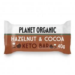 Photo Barre Keto Noisette-Cacao 40g Bio Planet Organic