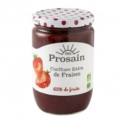 Photo Confiture extra de fraises 730g bio Prosain