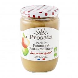 Photo Purée de pommes poire williams sans sucres ajoutés 620g bio Prosain