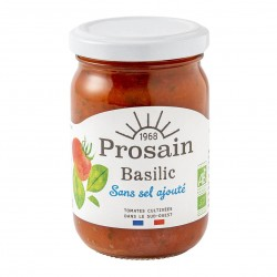 Photo Sauce tomate-basilic sans sel ajouté 200g bio Prosain