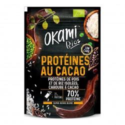 Photo Protéine de Pois Caroube-Cacao Bio 30g Okami