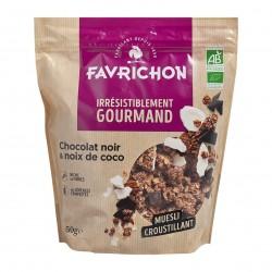 Photo Muesli croustillant chocolat & noix de coco 450gr Bio Favrichon