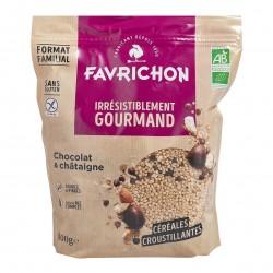 Photo Muesli croustillant chocolat & châtaigne 800 gr Bio Favrichon