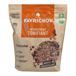 Photo Muesli croustillant chocolat 1kg Bio Favrichon