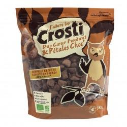 Photo Céréales Crosti duo coeur fondant et pétales chocolat 500g Bio Favrichon