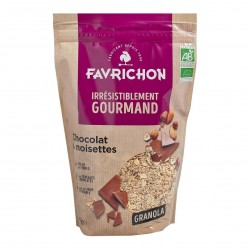 Photo Granola chocolat-noisettes 375gr Bio Favrichon