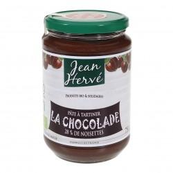 Photo Chocolade pâte à tartiner cacao-noisette-lait 750g bio Jean Hervé