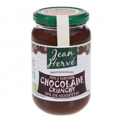 Photo Chocolade crunchy pâte à tartiner cacao-noisette-lait 350g bio Jean Hervé