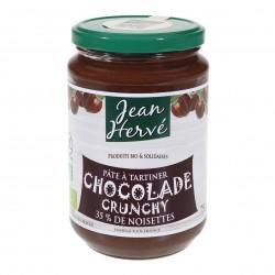 Photo Chocolade Crunchy pâte à tartiner cacao-noisette-lait 750g bio Jean Hervé