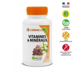 Photo Vitamines + minéraux 120 gél. MGD