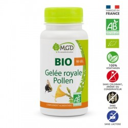 Photo Gelée royale et pollen 90 gél. bio MGD