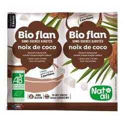 Photo Bioflan noix de coco sans sucres ajoutés 8g bio Nat-Ali