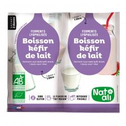 Photo Ferments pour boisson kéfir de lait 2x6g bio Nat-Ali