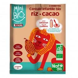 Photo Céréales infantiles Minibio riz + cacao 2x8g bio Nat-Ali