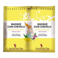 Photo Masque cuir chevelu Detox Purifiant 2x8gr bio Secrets des Fées