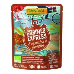 Photo Graines Express 3 céréales-lentilles 250g bio Danival