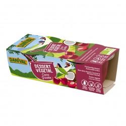 Photo Dessert végétal coco-griotte 2x100g bio Danival