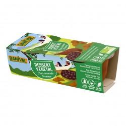 Photo Dessert végétal flan amande-cacao 2x100g bio Danival