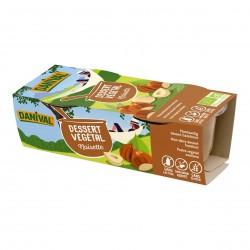 Photo Dessert végétal noisette 2x100g bio Danival
