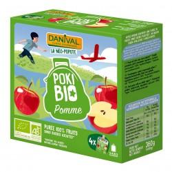 Photo Poki Bio pomme 4x90g bio Danival
