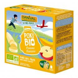 Photo Poki Bio pomme-banane  4x90g bio Danival