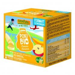 Photo Poki Bio pomme-banane  8x90g bio Danival