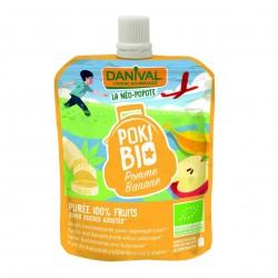 Photo Poki Bio pomme-banane 90g bio Danival