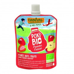 Photo Poki Bio pomme-fraise 90g bio Danival