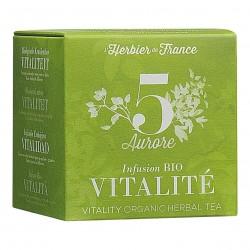 Photo Infusion Aurore - Vitalité - 15 mousselines bio L'Herbier de France