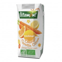 Photo Cocktail orange-carotte-citron Tetra 20cl bio Vitamont