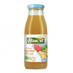 Photo Jus tonique pomme-gingembre-citron vert 50cl bio Vitamont