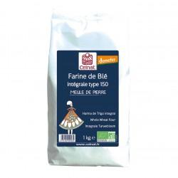 Photo Farine de blé intégrale T150 1kg bio Celnat
