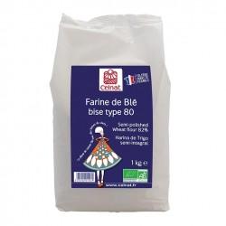 Photo Farine bise de blé T80 1kg bio Celnat