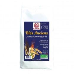 Photo Farine blanche de blés anciens T65 1kg bio Celnat