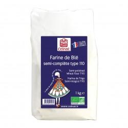 Photo Farine de blé semi-complète T110 1kg bio Celnat