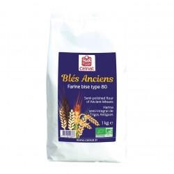 Photo Farine bise de blés anciens T80 1kg bio Celnat