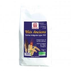 Photo Farine de blés anciens intégrale T150 1kg bio Celnat