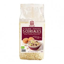 Photo Flocons de 5 céréales toastés 500g bio Celnat