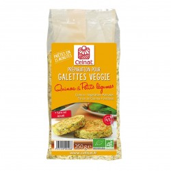 Photo Galettines quinoa-petits légumes 250g bio Celnat